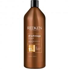 REDKEN all soft mega Shampoo - Шампунь для питания очень сухих и ломких волос 1000мл