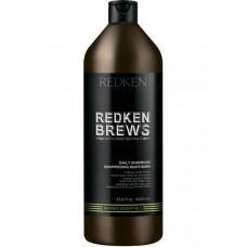 REDKEN BREWS Daily Shampoo - Шампунь для ежедневного ухода за волосами и кожей головы 1000мл