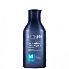 REDKEN color extend brownlights shampoo - Шампунь с синим пигментом для нейтрализации тёмных волос 300мл