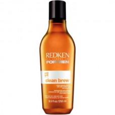 REDKEN For Men Clean Brew Shampoo - Очищающий шампунь с пивными дрожжами и апельсиновой цедрой 250мл