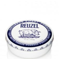 REUZEL Clay Matte Pomade WHITE - Матовая глина для укладки волос БЕЛАЯ банка 340гр