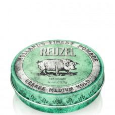 REUZEL Grease Medium Hold GREEN - Помада для укладки волос средней фиксации ЗЕЛЁНАЯ банка 113гр