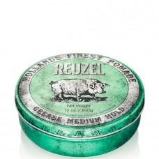 REUZEL Grease Medium Hold GREEN - Помада для укладки волос средней фиксации ЗЕЛЁНАЯ банка 340гр