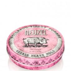 REUZEL Heavy Hold Grease PINK - Помада для укладки волос сильной фиксации РОЗОВАЯ банка 113гр