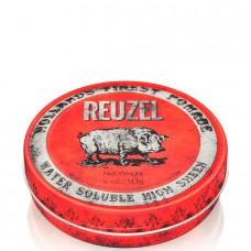 REUZEL High Sheen Pomade RED - Помада для укладки волос с высокой степенью блеска КРАСНАЯ банка 113гр