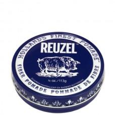REUZEL Pomade de Fiber DARK-BLUE - Паста для укладки волос ТЁМНО-СИНЯЯ банка 113гр