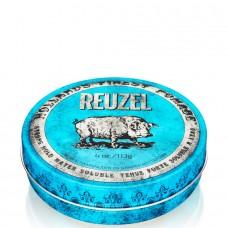 REUZEL Strong Hold High Sheen Pomade BLUE - Помада для укладки волос с высокой степенью блеска ГОЛУБАЯ банка 113гр