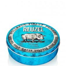 REUZEL Strong Hold High Sheen Pomade BLUE - Помада для укладки волос с высокой степенью блеска ГОЛУБАЯ банка 340гр