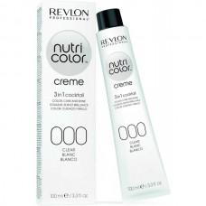 REVLON Professional nutri color creme 000 - Коктейль-колор 3-в-1 с питательным уходом 000 БЕЛЫЙ 100мл
