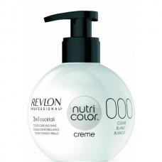REVLON Professional nutri color creme 000 - Коктейль-колор 3-в-1 с питательным уходом 000 БЕЛЫЙ 270мл