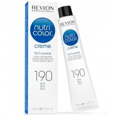 REVLON Professional nutri color creme 190 - Коктейль-колор 3-в-1 с питательным уходом 190 СИНИЙ 100мл
