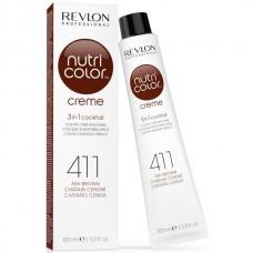 REVLON Professional nutri color creme 411 - Коктейль-колор 3-в-1 с питательным уходом 411 КОРИЧНЕВЫЙ 100мл