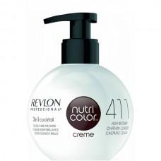 REVLON Professional nutri color creme 411 - Коктейль-колор 3-в-1 с питательным уходом 411 КОРИЧНЕВЫЙ 270мл