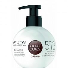 REVLON Professional nutri color creme 513 - Коктейль-колор 3-в-1 с питательным уходом 513 ГЛУБОКИЙ ОРЕХОВЫЙ 270мл