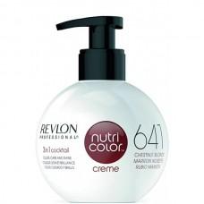 REVLON Professional nutri color creme 641 - Коктейль-колор 3-в-1 с питательным уходом 641 КАШТАНОВО СВЕТЛЫЙ 270мл
