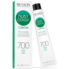 REVLON Professional nutri color creme 700 - Коктейль-колор 3-в-1 с питательным уходом 700 ЗЕЛЁНЫЙ 100мл