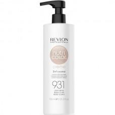 REVLON Professional nutri color creme 931 - Коктейль-колор 3-в-1 с питательным уходом 931 СВЕТЛО-БЕЖЕВЫЙ 750мл