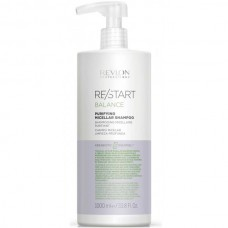 REVLON Professional RE/START BALANCE Purifying Micellar Shampoo - Мицеллярный шампунь для жирной кожи 1000мл