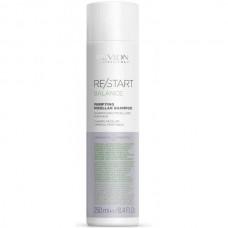 REVLON Professional RE/START BALANCE Purifying Micellar Shampoo - Мицеллярный шампунь для жирной кожи 250мл