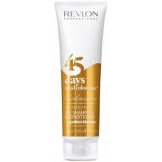 REVLON Professional REVLONISSIMO Color Care Shampoo & Conditioner Golden Blondes - Шампунь-кондиционер для золотистых блондированных оттенков 275мл