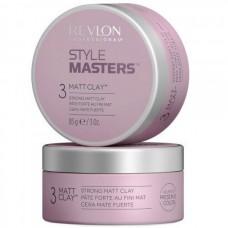 REVLON Professional STYLE MASTERS Matt Clay 3 - Глина матирующая и формирующая для волос 85гр
