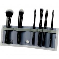 Royal & Langnickel MODA TOTAL FACE SET BLACK - Набор кистей для макияжа лица в чехле ЧЁРНЫЙ 6шт