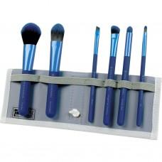 Royal & Langnickel MODA TOTAL FACE SET BLUE - Набор кистей для макияжа лица в чехле СИНИЙ 6шт
