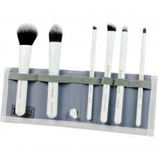 Royal & Langnickel MODA TOTAL FACE SET WHITE - Набор кистей для макияжа лица в чехле БЕЛЫЙ 6шт