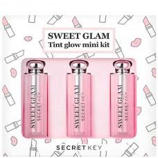 secret Key SWEET GLAM Tint Glow Mini Kit - Набор из трех мини-тинтов для усиления натурального цвет губ 3 х 3.8гр