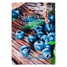 secret nature Mask Sheet Firming BLUEBERRY - Маска для лица Укрепляющая с ЭКСТРАКТОМ ЧЕРНИКИ 25гр