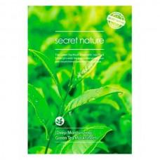 secret nature Mask Sheet Moisturizing GREEN TEA - Маска для лица Увлажняющая с ЭКСТРАКТОМ ЗЕЛЁНОГО ЧАЯ 25гр