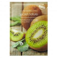 secret nature Mask Sheet Smoothing KIWI - Маска для лица Выравнивающая с ЭКСТРАКТОМ КИВИ 25гр