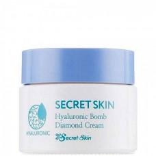 SECRET SKIN Hyaluronic Bomb Diamond Cream - Увлажняющий гиалуроновый крем с частицами алмаза 50гр
