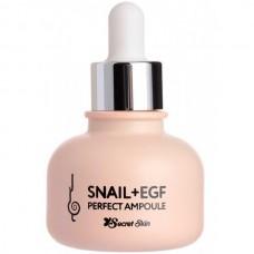 SECRET SKIN SNAIL+EGF Perfect Ampoule - Сыворотка для лица Восстанавливающая с ЭКСТРАКТОМ УЛИТКИ 30мл