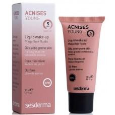 Sesderma ACNISES YOUNG Liquid make-up (claire) SPF 5 - Жидкий тональный крем с СЗФ5 (Светлый тон) 30мл