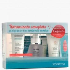 Sesderma SALISES Antiacne pack - Набор «Анти-акне» 50 + 50 + 30 + 3мл + 2гр