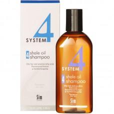 Sim SENSITIVE SYSTEM 4 Shale Oil Shampoo 4 - Шампунь №4 для очень жирной, чувствительной и раздраженной кожи головы 215мл