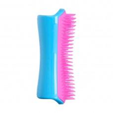 PET TEEZER De-Shedding & Dog Grooming Brush Pink & Blue - Расческа для вычесывания шерсти РОЗОВЫЙ/ГОЛУБОЙ 63 х 150мм