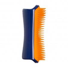 PET TEEZER Detangling & Dog Grooming Brush Navy & Orange - Расческа для распутывания шерсти СИНИЙ/ОРАНЖЕВЫЙ 63 х 150мм