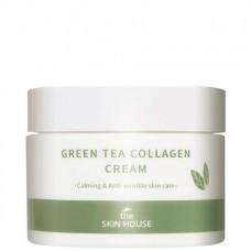 the SKIN HOUSE Green Tea Collagen Cream - Крем для лица Успокаивающий на основе КОЛЛАГЕНА и ЗЕЛЁНОГО ЧАЯ 50мл