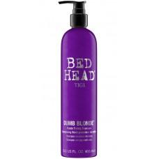 TIGI Bed Head DUMB BLONDE™ Purple Toning Shampoo - Шампунь-корректор для светлых и осветленных волос 400мл