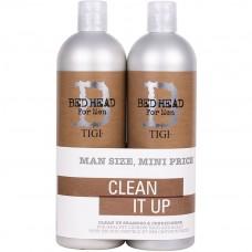 TIGI Bed Head For Men CLEAN UP™ Daily Tweens - Шампунь + Кондиционер для ежедневного применения 2 х 750мл