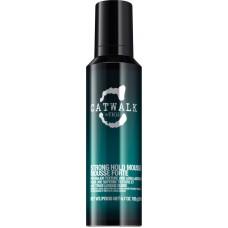 TIGI Catwalk STRONG HOLD MOUSSE - Мусс сильной фиксации для придания формы вьющимся волосам 200мл