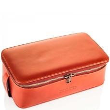TRUEFITT & HILL LEATHER Regency Box Bag TAN - Прямоугольная косметичка на молнии СВЕТЛО-КОРИЧНЕВАЯ 268 х 85мм