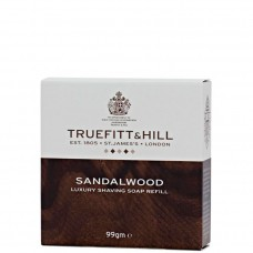 TRUEFITT & HILL Luxury Shaving Soap Sandalwood refill - Люкс-мыло для бритья (запасной блок для деревянной чаши) 99гр
