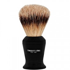 TRUEFITT & HILL SHAVING BRUSHES Carlton EBONY - Кисть для бритья CARLTON (Ворс серебристого барсука) ЭБОНИТ с серебром 10см