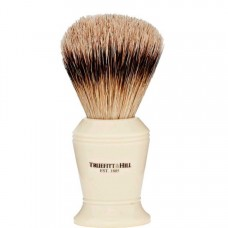 TRUEFITT & HILL SHAVING BRUSHES Carlton IVORY - Кисть для бритья CARLTON (Ворс серебристого барсука) СЛОНОВАЯ КОСТЬ с серебром 10cм