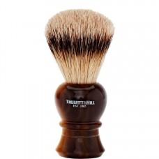 TRUEFITT & HILL SHAVING BRUSHES Regency HORN - Кисть для бритья REGENCY (Ворс серебристого барсука) РОГ с серебром 10см