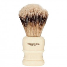 TRUEFITT & HILL SHAVING BRUSHES Welington IVORY - Кисть для бритья WELINGTON (Ворс серебристого барсука) СЛОНОВАЯ КОСТЬ с серебром 10см