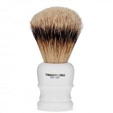 TRUEFITT & HILL SHAVING BRUSHES Welington PORCELAIN - Кисть для бритья WELINGTON (Ворс серебристого барсука) ФАРФОР с серебром 10см